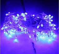 10 M 100 Led Lamp Lights Blue Christmas Hotel Decoration