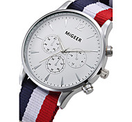 Fashion Luxury Brand Nylon Strap Quartz Watches Women Men Military Wrist Watch Relogio Masculino Gift Clock
