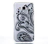 TPU Material Black Half Flower Pattern Cellphone Case for Samsung Galaxy J710/J510/J5/J310/G530/G360