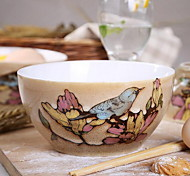 Personality Retro Hand-Painted Ceramic Bowl (random style)