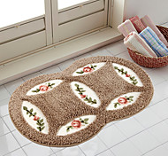 "Country Style 1PC Polyester Bath Rug 17"" by 29"" Floral Pattern"