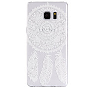 TPU Material Campanula Feather Pattern Cellphone Case for Samsung Galaxy Note 7