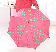 Red / Blue / Yellow Folding Umbrella Sunny and Rainy Textile Kids
