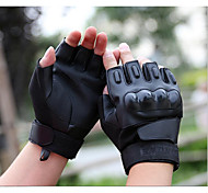 The Black Hawk Special Forces Tactical Gloves Leather Cut Half Gloves Fitness Outdoor Riding Motorcycle Gloves