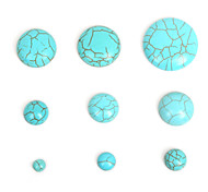 beadia 30pcs turquesa sintética cabochons cúpula de piedra de 10 mm perlas