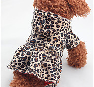 Cat / Dog Costume / Dress Brown Winter / Spring/Fall Leopard Leopard / Holiday, Dog Clothes / Dog Clothing