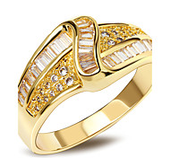 Women Wedding Jewelry AAA Quality Cubic Zirconia Prong Setting Ladies Wedding Rings 18K Gold Plated