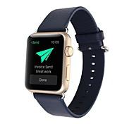 Vermelho / Preta / Azul / Marrom Couro 荔枝纹 经典扣 Fecho Clássico Para Apple Assistir 38 milímetros / 42 milímetros