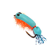 Anmuka 12pcs Dry Fly Lures Shrimp Single Hook Various Colors Feather Hook Trout Fishing Dry Flies