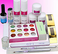 11Sets Manicure Tools Based Nail Nail Care Phototherapy Armor Suits