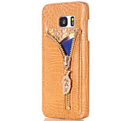Crocodile-Embossed Card Slot Holder Back Cover for Samsung Galaxy Note 7