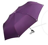 Случайный цвет Складные зонты Солнечный и дождливой Pезина Lady / Мужчины
