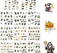 11 Designs Nail Art Gold Glitter Halloween Stickers Beautiful Halloween Image Nail Decoration BJC034-044