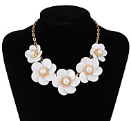 xu® Women's Flower Elegant Fashion Glass Pendant Hot-style Necklace