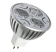 3 GU5.3 (MR16) LED-spotlampen MR16 3 SMD 250LM lm Warm wit / Koel wit Decoratief DC 12 V 1 stuks