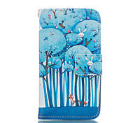 Blue Tree Leather Wallet for Samsung Galaxy Core Prime Grand Prime