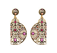 The Diamond Circular Hollow Beads Retro Wind Zinc Alloy Earrings Cremation Jewelry