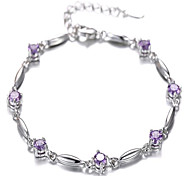 Fashion 925 silver inlaid CZ  Bracelet Christmas Gifts