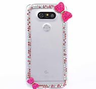 DIY Mei Red Bowknot Pattern PC Hard Case for Multiple LG G3 G4 G5 G5SE V10 K10 K7 K4