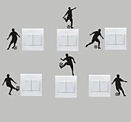 AYA™ Set of 6 DIY Creative Football Switch Stickers Wall Decor