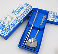 Practical Activities Gift Ideas Gift Porcelain Spoon Chopsticks Piece Cutlery Set