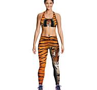 Mujer Sin Mangas Carrera / Running Ropa de Compresión Transpirable Secado rápido Compresión Verano Ropa deportivaYoga Ejercicio y Fitness