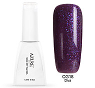 Azure 12ml Purple Gel Polish Glitter Color Gel Soak Off UV Nail Lacquer