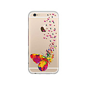 For iPhone 7 MAYCARI® Valley of Butterflies Transparent Soft TPU Back Case for iPhone 6/6S