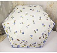 Hand Painted Floral Sunny And Rainy Umbrella