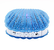 B-08 BT V2.0 Shell Wireless Bluetooth Mini Speaker w/ TF, USB 2.0 LED Ligth - Blue + White