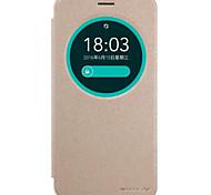 Pour Coque Asus Avec Ouverture Clapet Coque Coque Intégrale Coque Couleur Pleine Dur Cuir PU pour AsusAsus Zenfone Max ZC550KL Asus