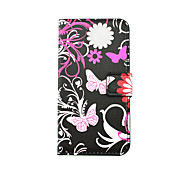 Gray Butterfly Pattern PU Leather Full Body Case with Stand and Card Slot for LG K10/K8