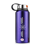 WBL Stainless Steel Water Bottle Silver / Purple