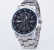 Men's Dress Watch / Quartz Alloy Rose Gold Plated Band Casual Silver