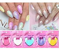 10 Kit di Decorazioni per manicure Espositori e decorazioni Cipria Manicure fai da te