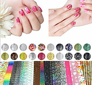 20 Sheet  Mix Color Transfer Foil Nail Art Flower Design Sticker Decal For Polish Care DIY  Nail Art