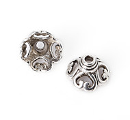 Beadia 16Pcs Antique Silver Alloy Beads Cap 10x6mm Flower Shape Spacer Beads