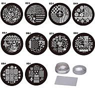 Arte del chiodo che timbra il piatto della matrice raschietto 9*9*6