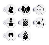 8Pcs Wine Glass Stencil Christmas Cake Stencil for Cookie Decorative Stencils ST-851