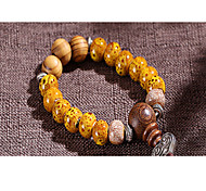 Strand Bracelets 1pc,Yellow / Red Bracelet Vintage Circle 514 Ceramic Jewellery