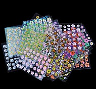 30 Sheet/Lot Floral Design Manicure Transfer Nail Art Tips Stickers Decals 3D Flowers Beauty Tickers For Nails
