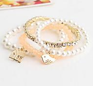 Bracelet Manchettes Bracelets / Bracelets de rive / Bracelets Wrap Alliage Forme d'Animal Mode Quotidien / Décontracté Bijoux Cadeau Doré,