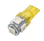 20x super luminoso ámbar t10 amarilla / 194/168/2825 5 luces llevadas bulbos de lámpara 5050 SMD
