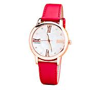 Women's Fashion Leather Casual Quartz Watch