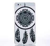 TPU Material Black Campanula Pattern Cellphone Case for Huawei P9Lite/P9/P8Lite