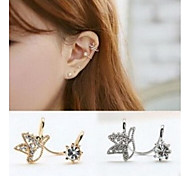 Cute Bird Rhinestone Alloy Clip-On Clip Earrings 1 pair
