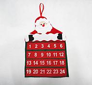 Rg3 Christmas Calendar Decoration Velvet Flower Elderly Supplies