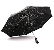 Black Folding Umbrella Sunny and Rainy Textile Travel / Lady / Men
