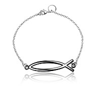 2016 New Fish Noble Silver Black Party Luxury Specially Bracelets For Women