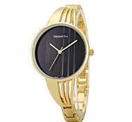 REBIRTH® Women's Fashion Watch Large Dail Golden Alloy Strap Quartz Wrist Watch